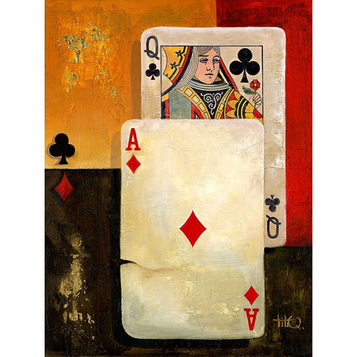 """""""Ms. Big Slick Poker Queen"""" Graphic Art on Wrapped Canvas"""