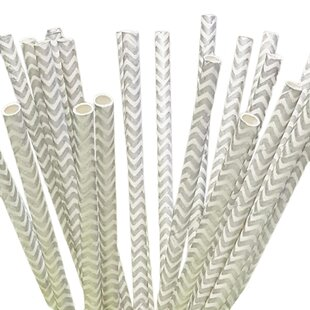 100 Piece Paper Straws (Set of 100)