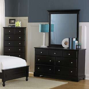 Beachcrest Home Rotonda Dresser with Mirror Image