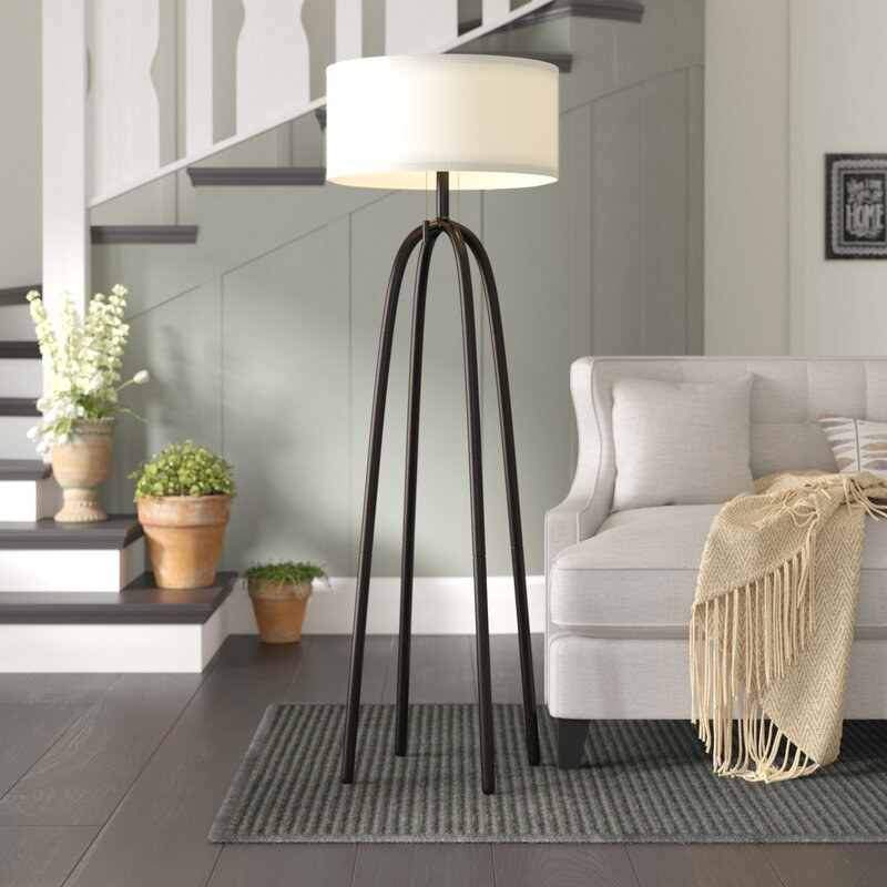 Laurel Foundry Modern Farmhouse Elfrieda 62 Floor Lamp Reviews