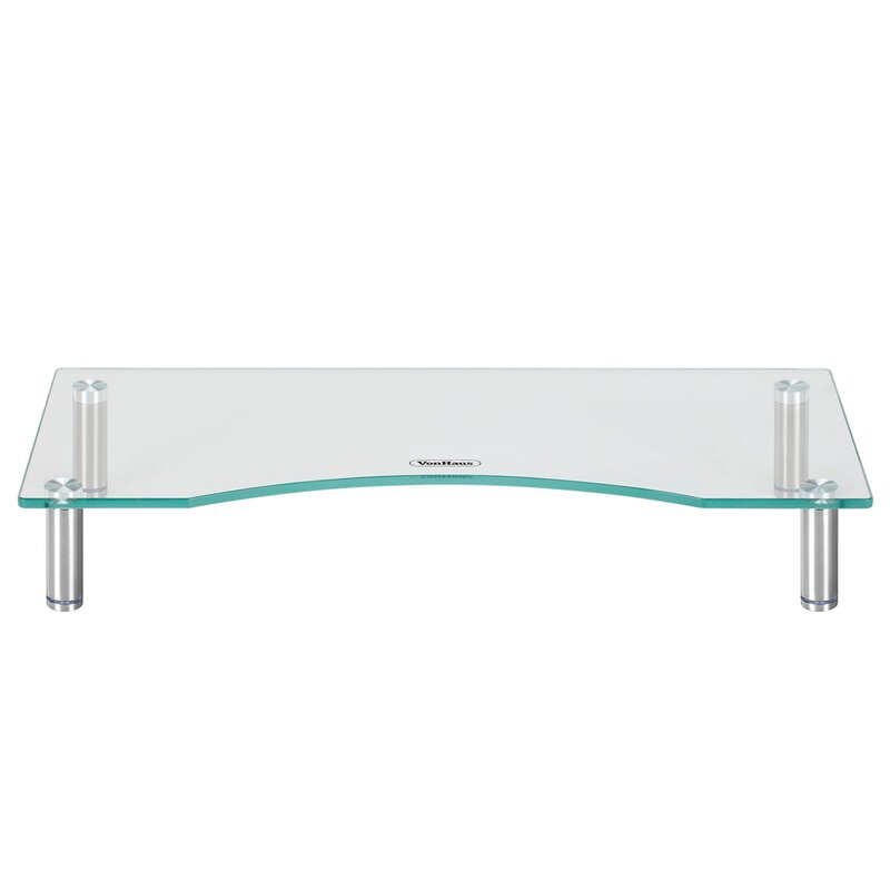 vonhaus small adjustable height monitor stand & reviews | wayfair