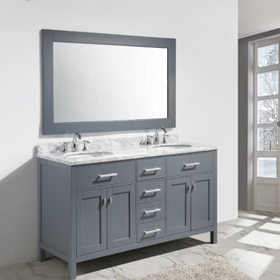 Middletown 61 Double Sink Vanity Set with Mirror by Andover Mills