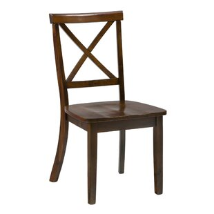 X Style Back Solid Wood Dining Chair (Set of 2) by Benzara