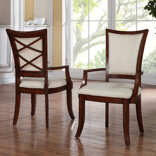 Leander Upholstered Dining Chair (Set of 2) World Menagerie