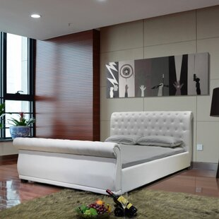 Greatime Queen Upholstered Sleigh Bed