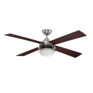 Compare prices 52 Javonte 4-Blade Ceiling Fan with Wall Remote By 17 Stories