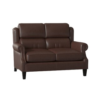 Taylor Genuine Leather 585 Rolled Arm Loveseat by BradingtonYoung