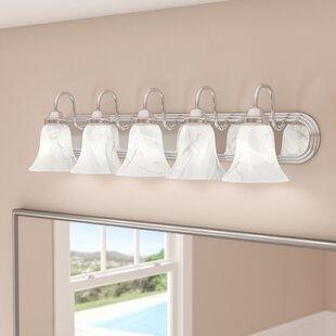 Tiverton Strip 5-Light Vanity Light By Three Posts