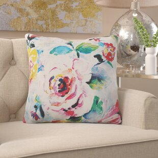 Blosser Floral Print Indoor/Outdoor Throw Pillow