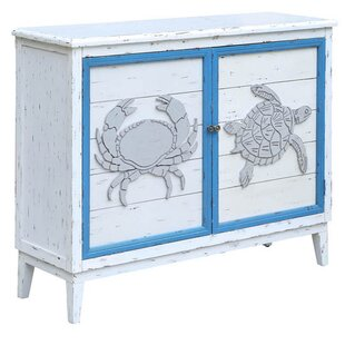 Rosecliff Heights Aspenwood Crab and Turtle 2 Door Accent Cabinet