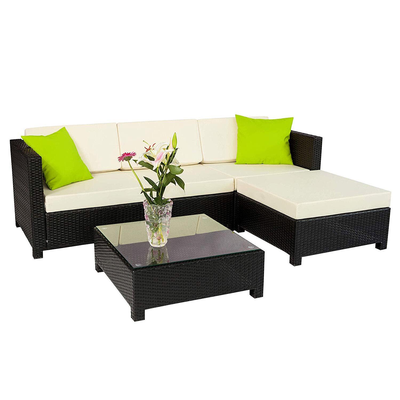 Brayden Studio Cregan Outdoor Garden Patio Sectional With Cushions Wayfair