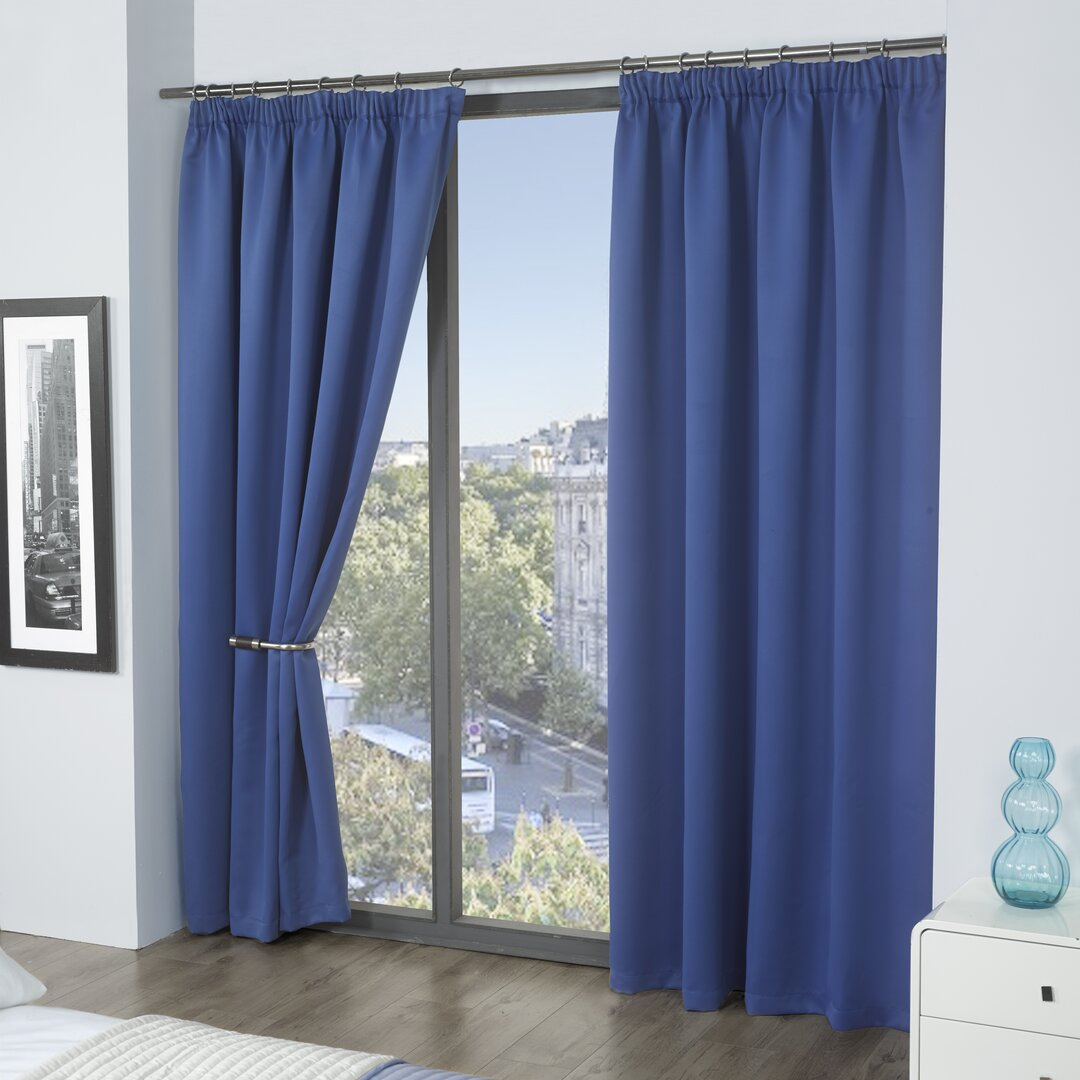 Pencil Pleat Blackout Thermal Curtains