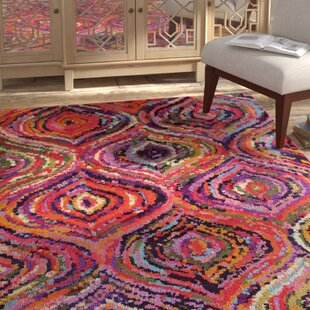 Roshan Purple/Orange Area Rug by Bungalow Rose
