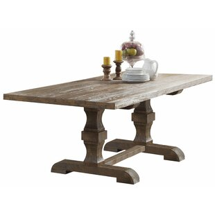 Carlie Double Pedestal Dining Table Ophelia & Co.