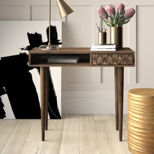 Banach Solid Wood Writing Desk by Mercury Row Modern