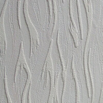 """Anaglypta Paintable Caiger 33' x 20.5"""" Abstract 3D Embossed Wallpaper Brewster Home Fashions"""
