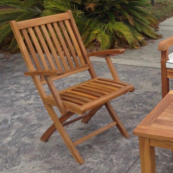Santa Barbara Folding Patio Dining Chair