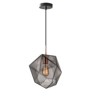 Modern copper pendant lighting allmodern bade 1 light mini pendant aloadofball Choice Image