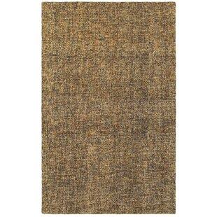 Laguerre Boucle Hand-Hooked Wool Brown/Beige Area Rug ByGracie Oaks