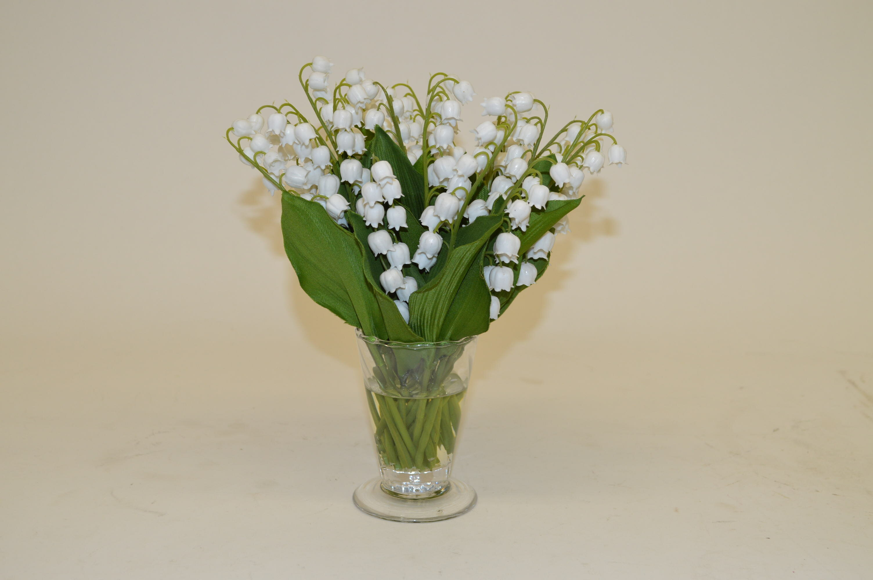 The French Bee White Lily Of The Valley In Parfait Vase Wayfair