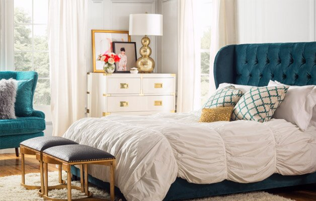 glam bedroom. A Glam New Bedroom for  400 Wayfair