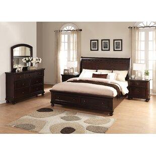 Roundhill Furniture Brishland King Platform 5 Piece Bedroom Set