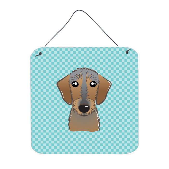 Caroline\'s Treasures Checkerboard Wirehaired Dachshund by Denny ...