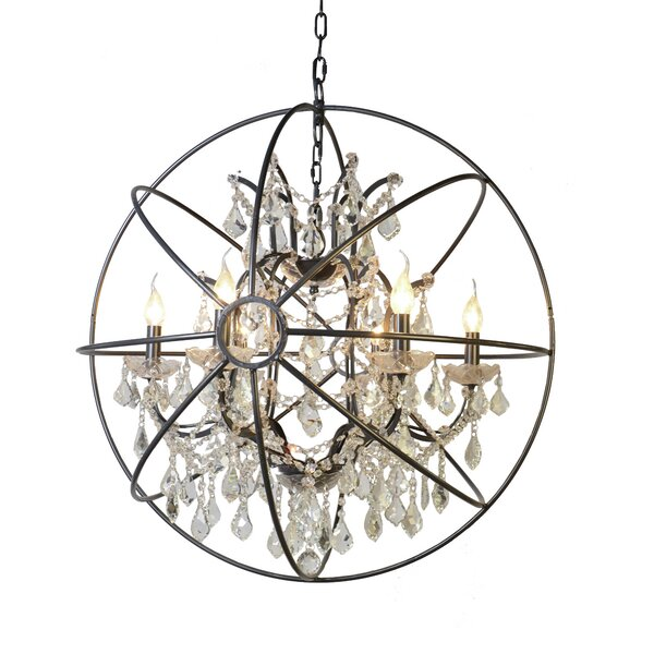 Gracie Oaks Cearbhall 6 Light Globe Chandelier Reviews