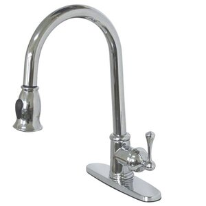 Vintage Pull Down Single Handle Kitchen Faucet
