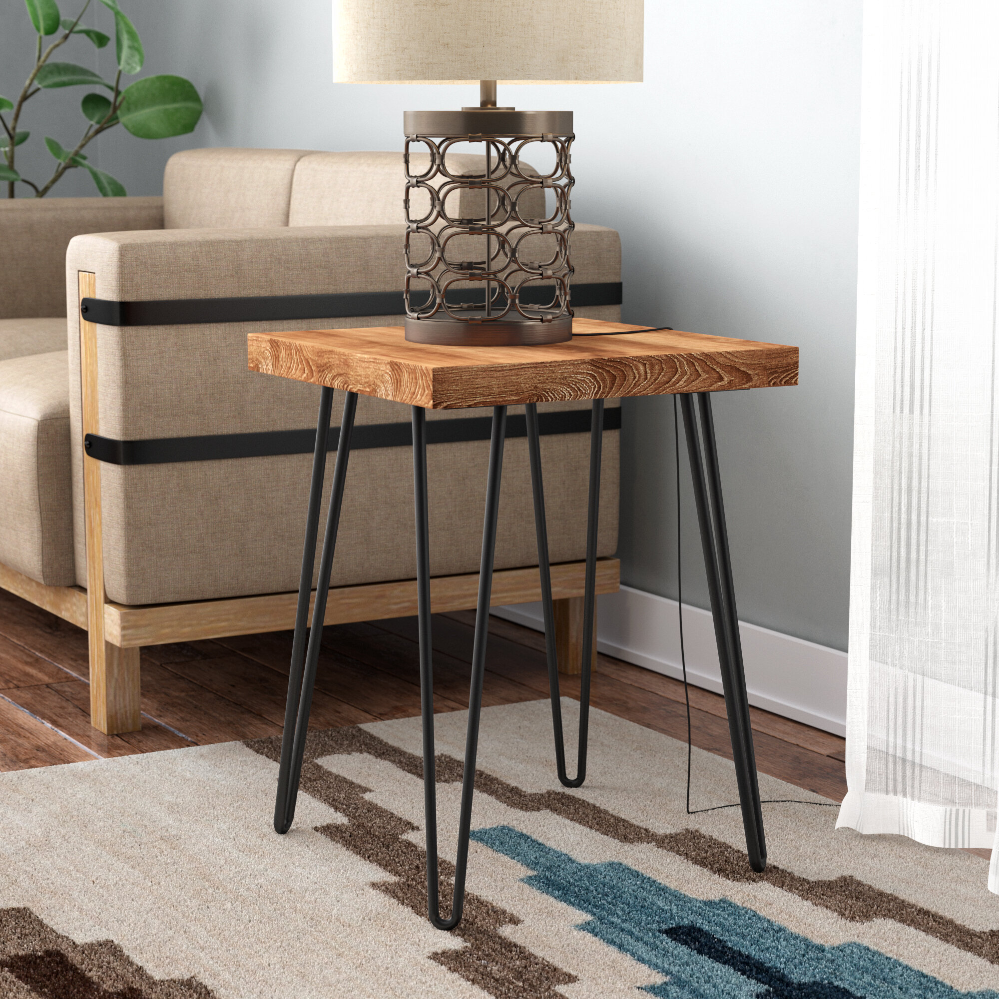 Union Rustic Lerner Old Elm Wood End Table Reviews