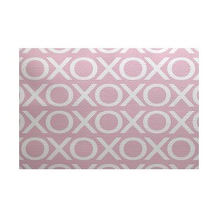 Inexpensive Valentine's Day Pale Pink Indoor/Outdoor Area Rug By The Holiday Aisle