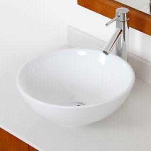 Price Check Ceramic Circular Vessel Bathroom Sink By Elite