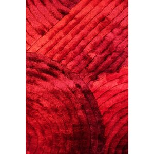 Shaggy 3D Red Area Rug
