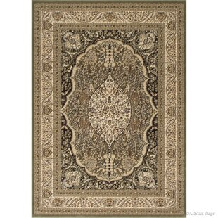 art deco rug. Inouye High-End Ultra Dense Floral Art Deco Sage Green Area Rug A