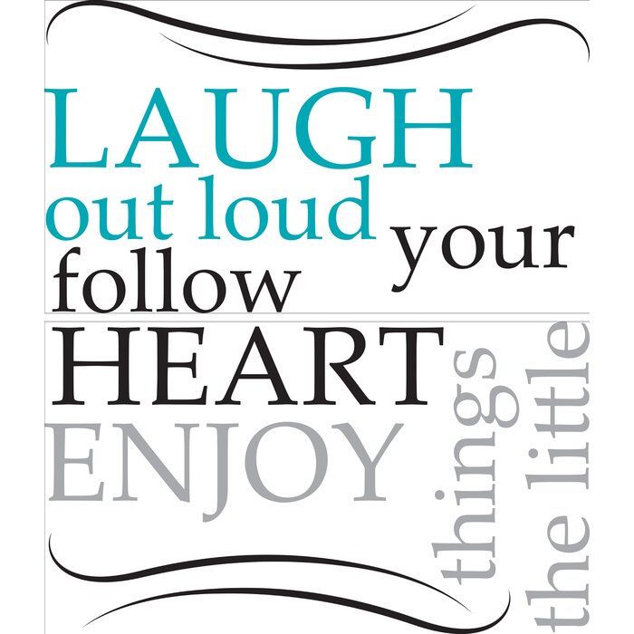 Duchesne Laugh Out Loud Quote Wall Decal