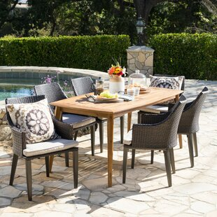 7 Piece Dining Set With Cushions by Brayden Studio Wonderful