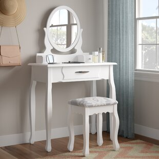 Beecroft Dressing Table Set With Mirror By Rosalind Wheeler