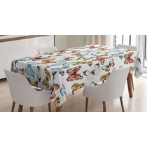 Butterfly Table Cloth Cotton Linen Lace Tablecloth Dining Table Cover Home Decor