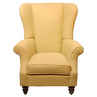 Bartlett Linen Wing back Chair by Dar by Home Co