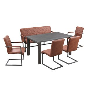 Review Mccord Dining Set With 4 Chairs And 1 Bench