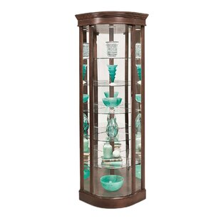 Auberge Lighted Corner Curio Cabinet