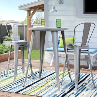 Lucien 3 Piece Bar Height Dining Set by T..