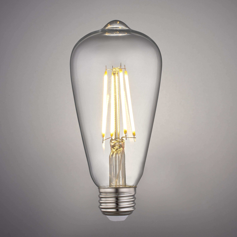2W Edison Globe Light Bulb Vintage Style ST21 Dimmable Led Filament 2200K E26