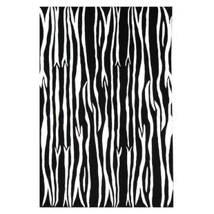 Find for Contempo Black/White Area Rug ByAcura Rugs