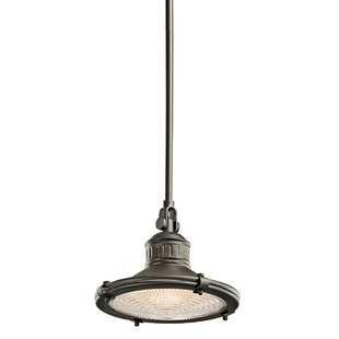 Beachcrest Home Teisha 1-Light Cone Pendant