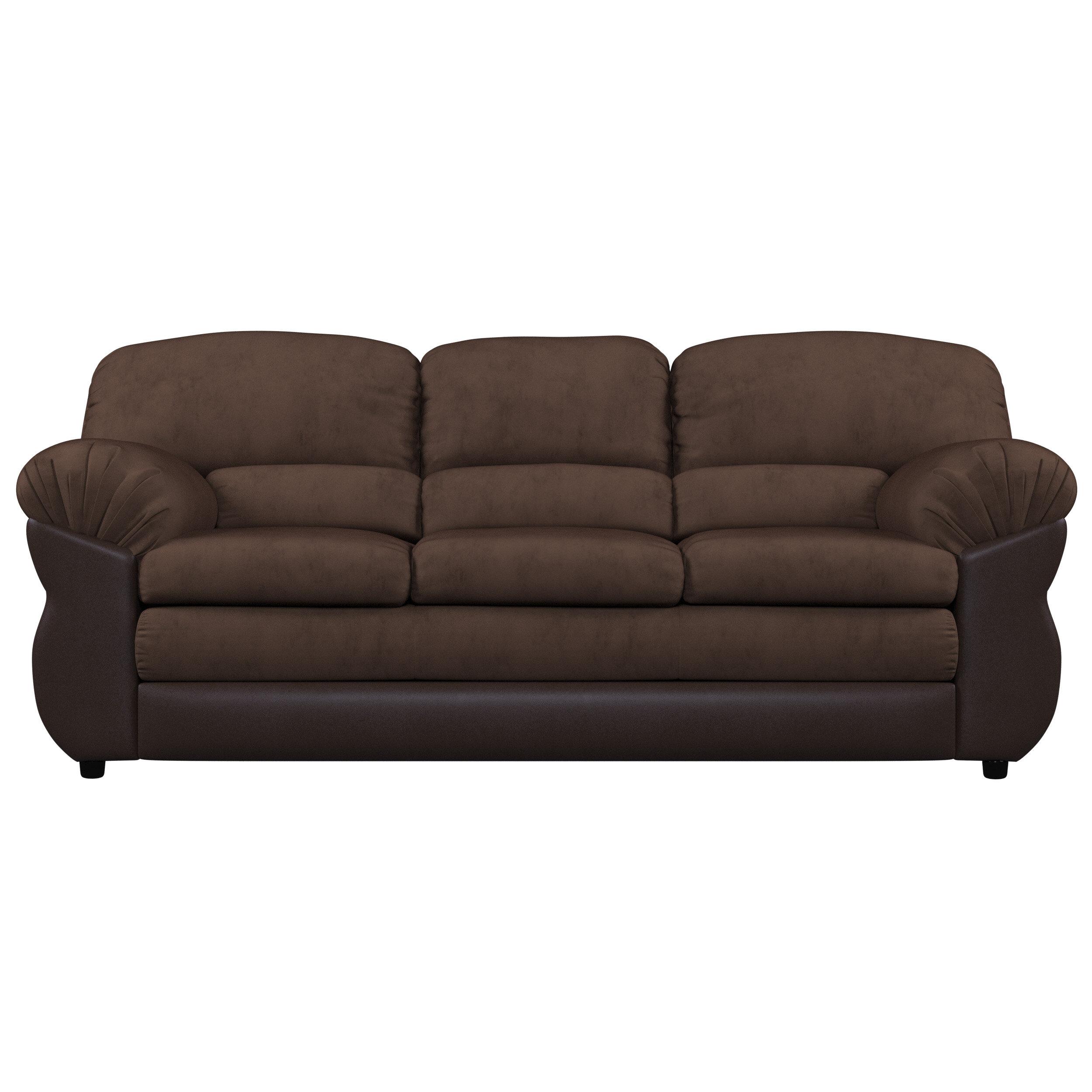 Piedmont Furniture Microfiber 86 Pillow Top Arm Sofa Reviews Wayfair