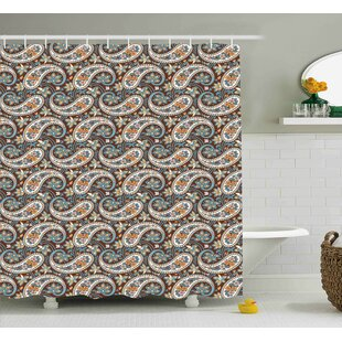 Hudson Vintage Oriental Ethnic Single Shower Curtain