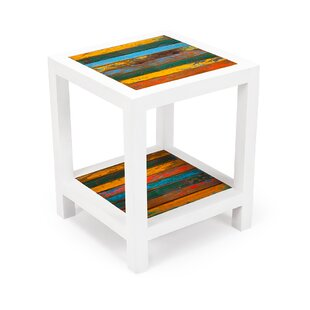 Second Wind Reclaimed Wood Side Table by EcoChic Lifestyles