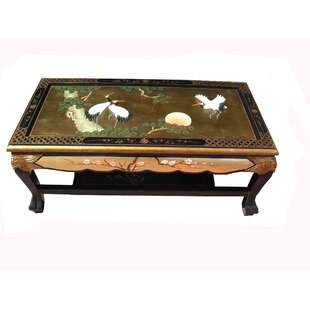 Gold Leaf Coffee Table By World Menagerie