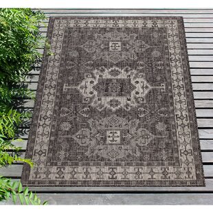 Arverne Gray Indoor/Outdoor Area Rug